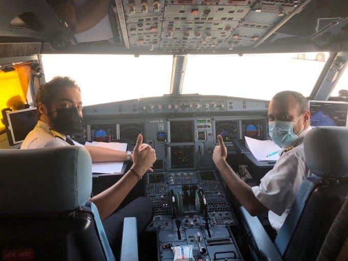 أول رحلة من قمرة قيادة طيران ناس