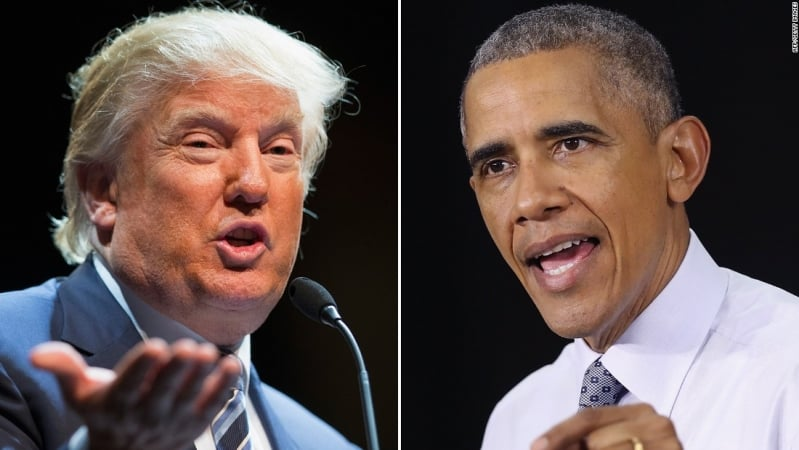 أوباما يوبخ ترامب علنًا: طفل صغير يتولى قيادة الولايات المتحدة