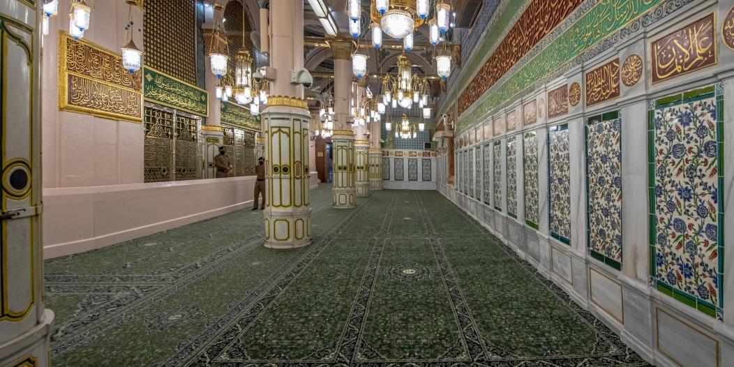 اكتمال ترميم وصيانة الجدار القبلي للمسجد النبوي