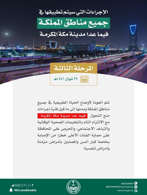 في 29 شوال تعود أوضاع الحياة لطبيعتها في جميع المناطق عدا مدينة مكة