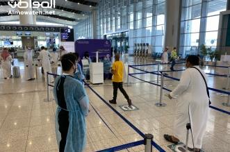 تباعد وكمامة وقياس حرارة.. عودة آمنة للرحلات الداخلية في مطار الرياض - المواطن