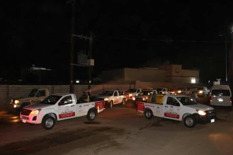 بعد تسجيل 56 إصابة بـ كورونا.. حملة لتطهير وتعقيم قرية أبو السلع