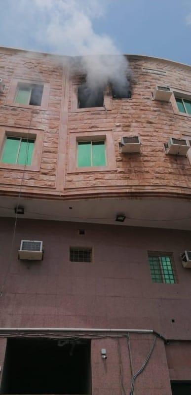 حريق شقة يصيب 3 أطفال بالخبر