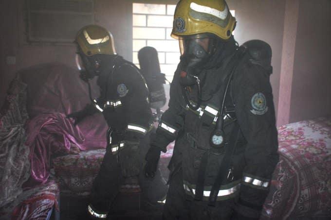 حريق شقة بجدة 2