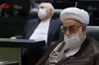 فيديو.. ظريف يغط في سبات عميق أثناء خطبة الرئيس الإيراني - المواطن