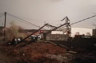 عاصفة مطرية تُسقط أعمدة الكهرباء والأشجار بجازان - المواطن