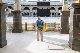 تدشين خطط التعقيم والتطهير داخل الحرمين استعدادًا للعشر الأواخر من رمضان - المواطن