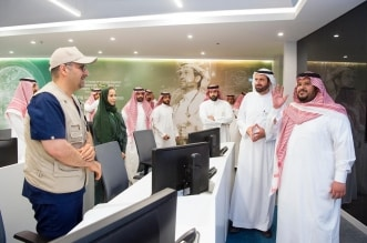 نائب أمير الرياض يزور المركز الوطني الصحي للقيادة والتحكم 9