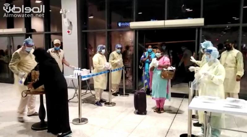 وصول 213 كادر ممرضات من الهند إلى مطار أبها
