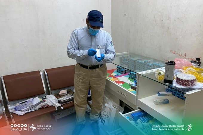 مداهمة مقر سكني يخزن منتجات طبية مخالفة بالقصيم