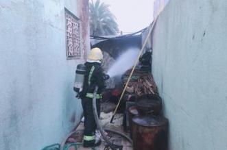 إصابة مقيم وطفلين في حريق مستودع بسبب عبث أطفال بنجران - المواطن