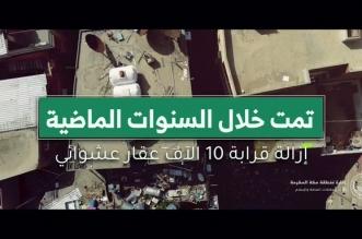 فيديو.. إزالة 10 آلاف عقار ضمن مشروع معالجة الأحياء العشوائية بمكة - المواطن