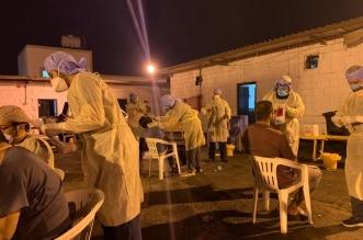 فحص كورونا عمال بلدية خميس مشيط