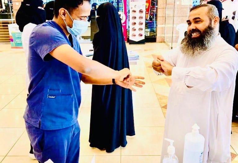 صور.. مستشفىالصدرية بجازان ينفذ حملة وقائية من كورونا