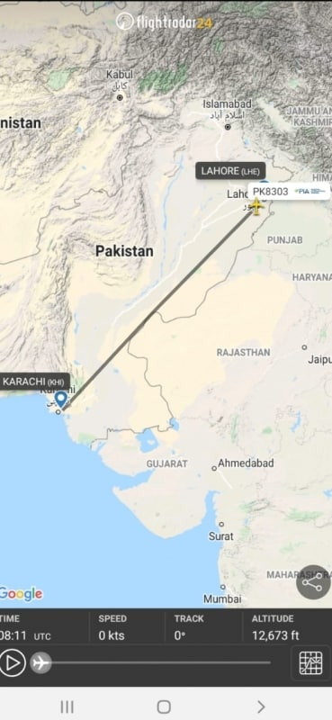 فيديو .. آخر تسجيل صوتي بين قائد الطائرة الباكستانية المنكوبة وبرج المراقبة - المواطن