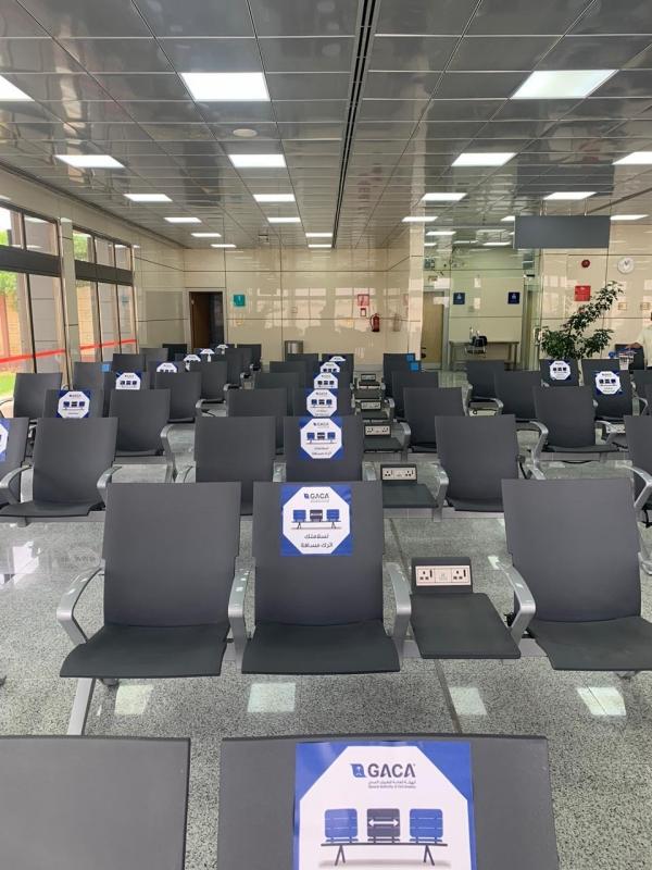 لقطات من تجهيز مطار رفحاء قبل بدء الرحلات الداخلية
