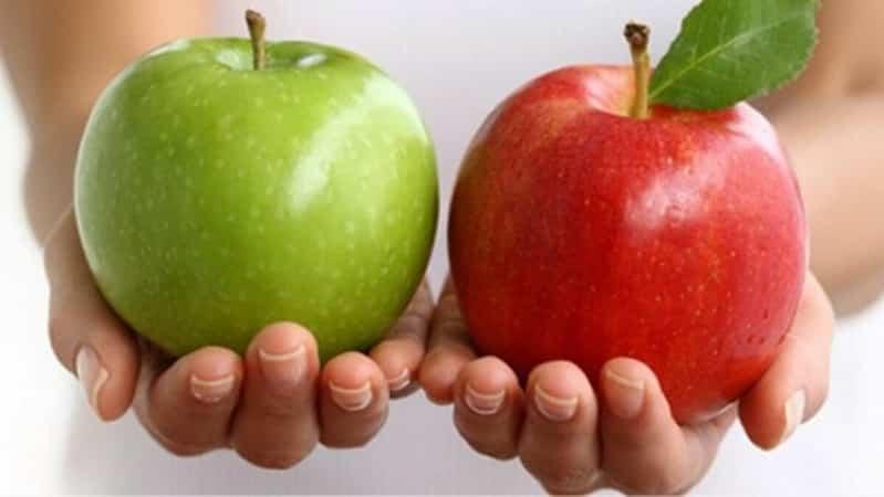 تعّرف على الفرق بين التفاح الأحمر والأخضر