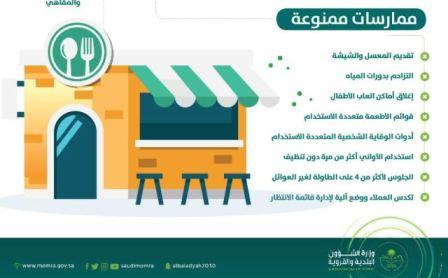 إجراءات وقائية بالمطاعم والمقاهي.. منع تقديم المعسّل والشيشة وإغلاق ألعاب الأطفال