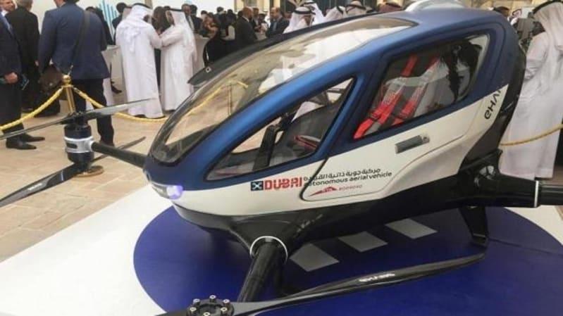 أول دولة عربية تنقل البشر بطائرة بدون طيار!