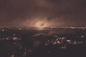 انفجار خزان غاز في إيران