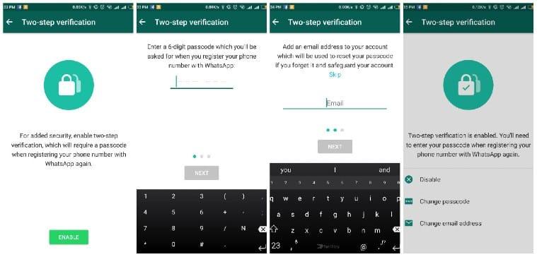 تأمين حساب WhatsApp