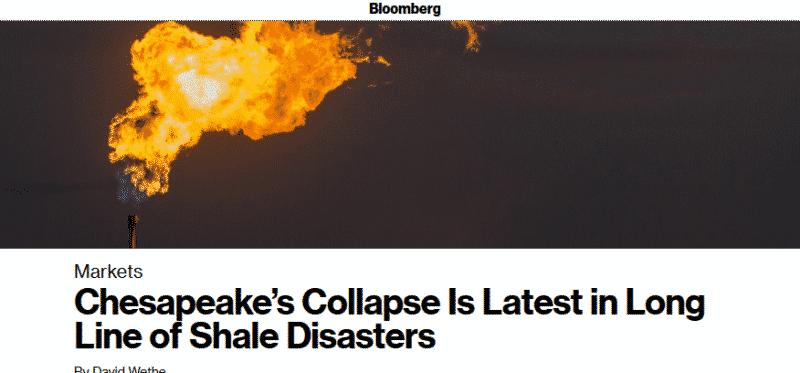 تشيسابيك إنرجي أحدث ضحايا إفلاس شركات النفط الصخري الأمريكي (1)