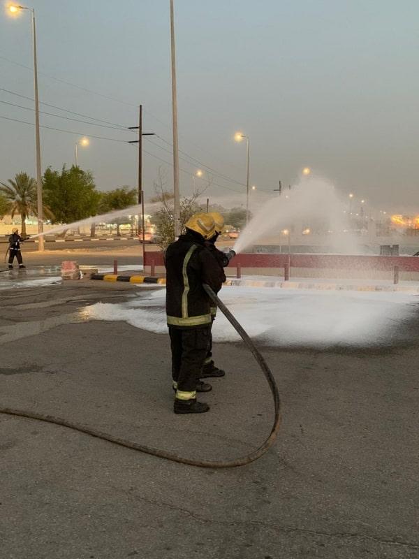 حريق في خزان وقود لمحطة بالأحساء - المواطن