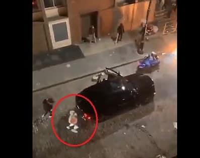 فيديو.. صاحب رولز رويس يسرق طعامًا من لصوص في المظاهرات الأمريكية !