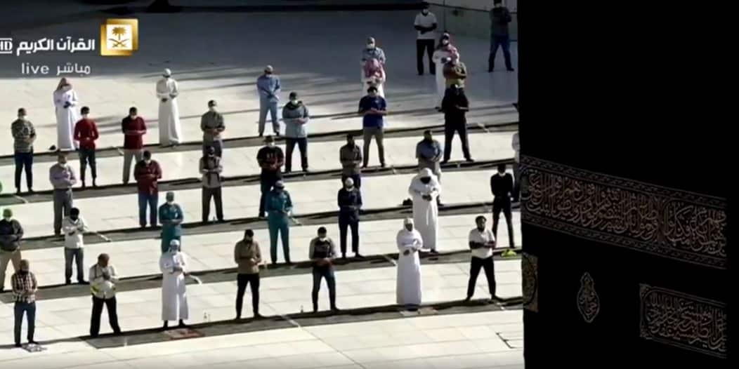 فيديو.. صلاة الكسوف في الحرم المكي وسط إجراءات احترازية مشددة