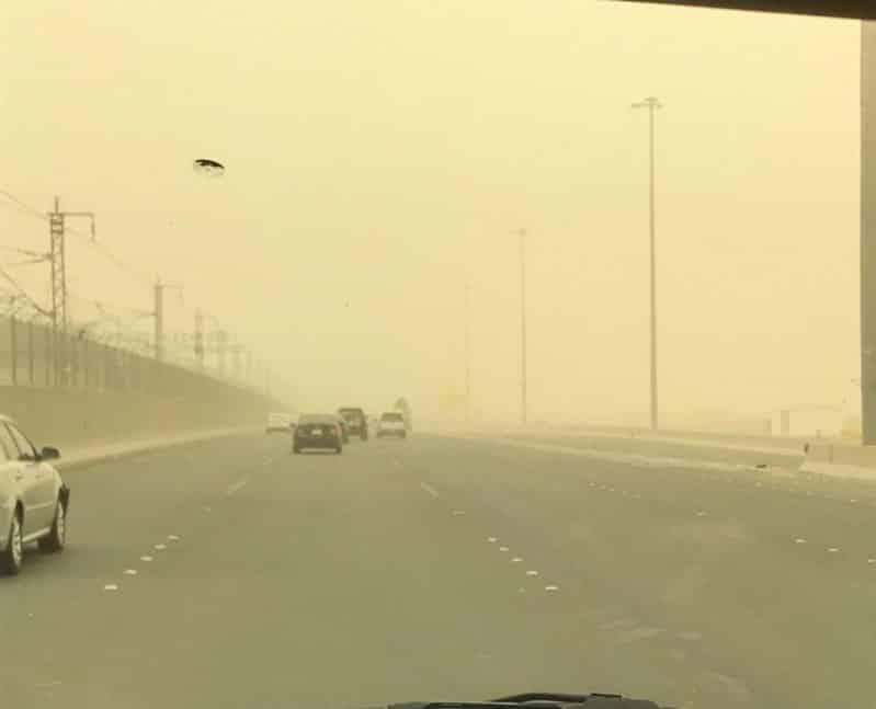 استمرار الرياح المثيرة للغبار والأتربة على 5 مناطق