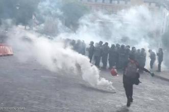 اشتباكات عنيفة بين محتجين وعناصر حزب الله وسماع إطلاق نار في لبنان - المواطن