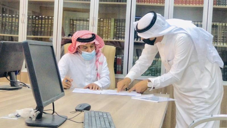 المقابلات الشخصية للمرشحين على الترقيات بإمارة الباحة عن بُعد