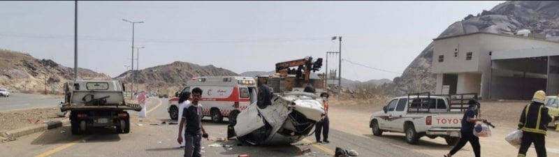 7 إصابات بانقلاب مركبة في المخواة منها 3 خطيرة - المواطن