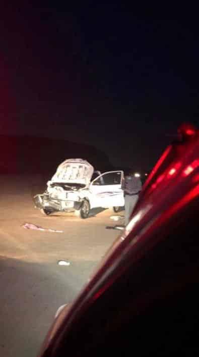 ثلاث إصابات في تصادم مروع على طريق شرما بتبوك