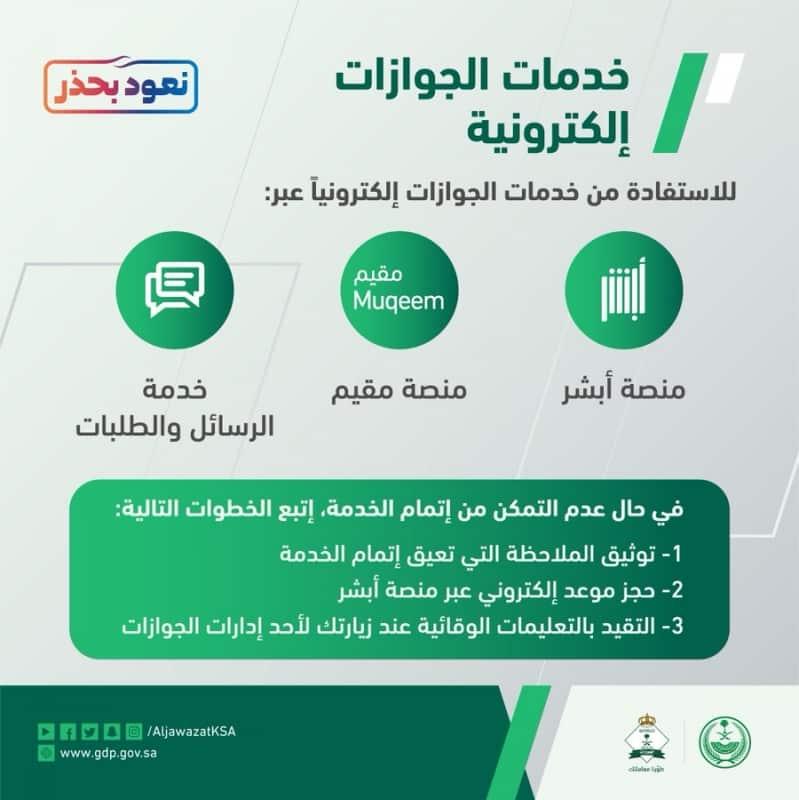 الجوازات : 3 قنوات لخدمة المستفيدين عن بعد إلكترونيًّا - المواطن