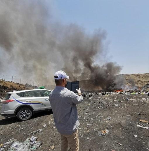 حريق بمكب نفايات في بلقرن