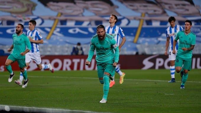 راموس يدخل تاريخ الليغا بعد مباراة ريال سوسيداد ضد الريال