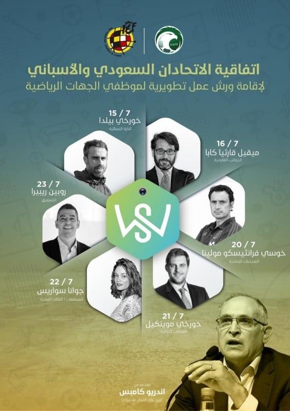الاتحادين السعودي والاسباني