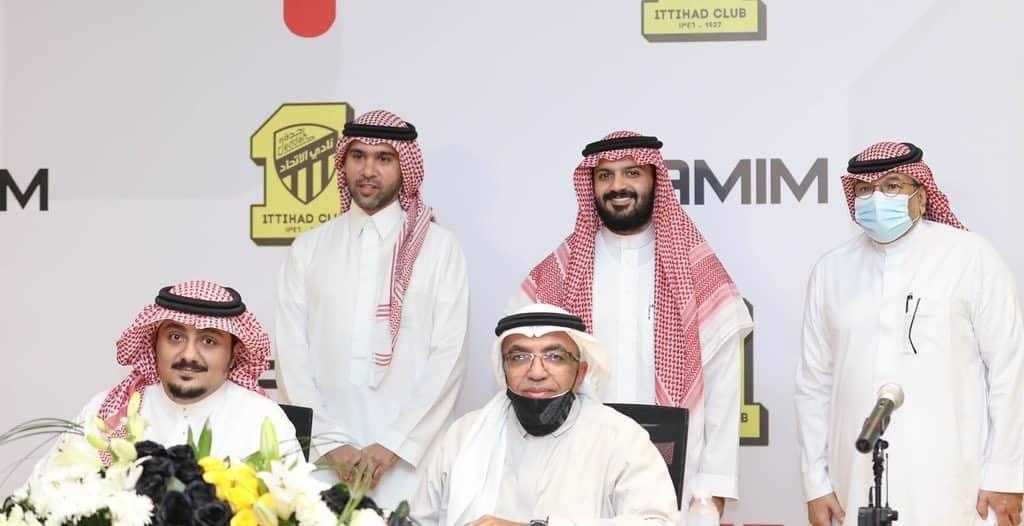 الاتحاد يوقع عقد شراكة مع تميم الرياضية