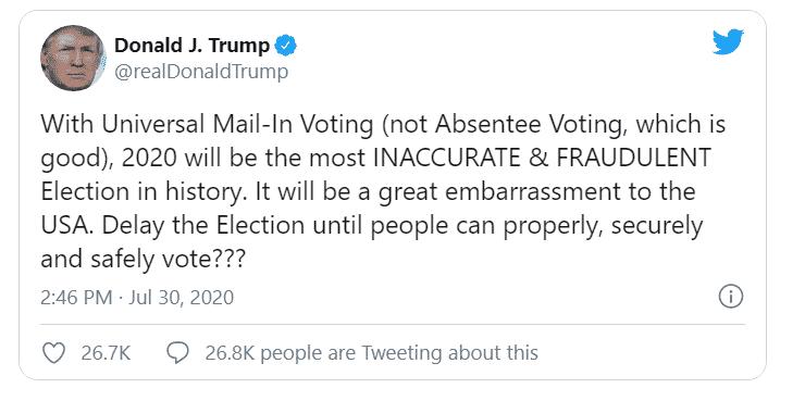 ترامب يقترح تأجيلًا غير مسبوق للانتخابات الأمريكية (1)