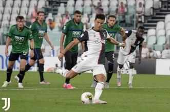 رونالدو يقترب من ترتيب هدافي الدوري الايطالي