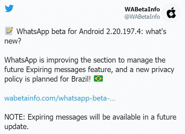 ميزة الرسائل ذاتية التدمير على WhatsApp (1)