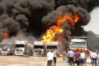 فيديو.. انفجار هائل في مخازن وقود بإيران - المواطن
