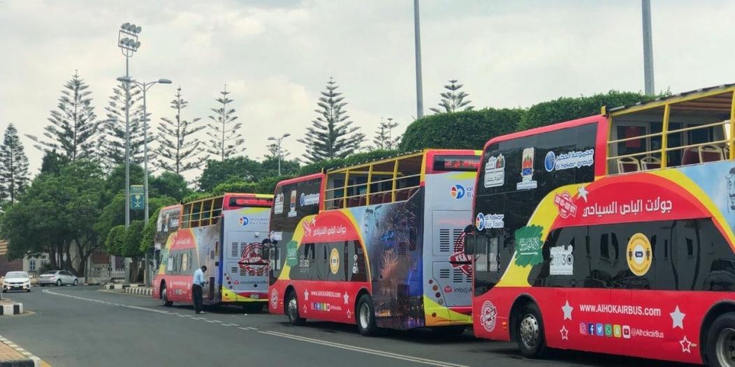 الباص السياحي ذو الطابقين يُطلق جولاته في أبها