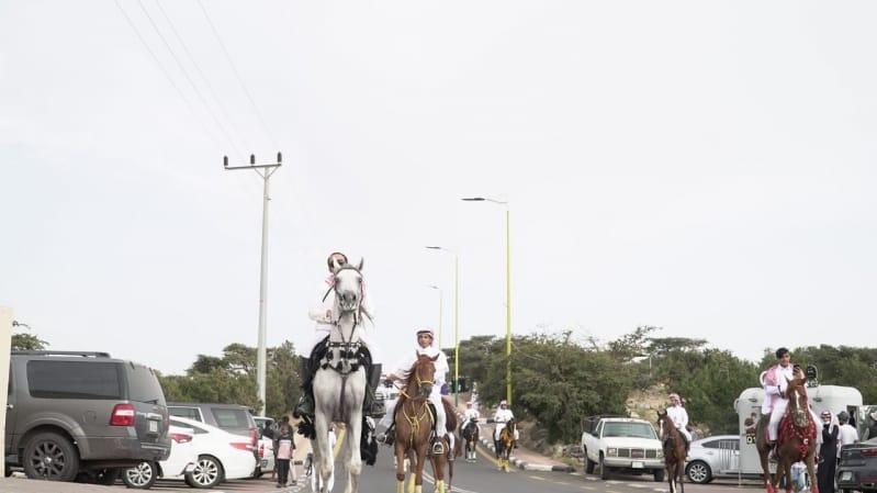 صور.. مسيرة الفروسية واستعراض الدراجات النارية في صيف النماص 1441