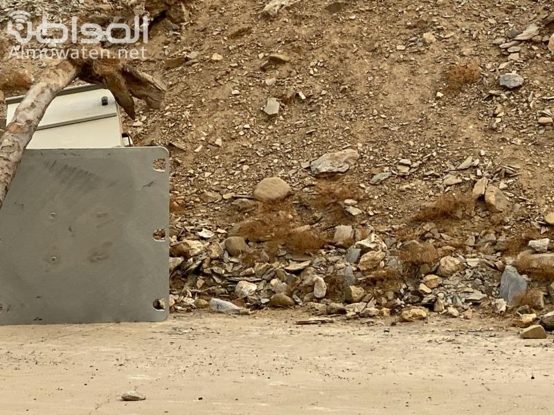 عبث في جهاز ساهر على طريق الفطيحة للمرة الثانية - المواطن