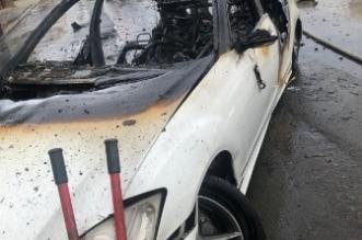 شاهد.. اشتعال مركبة وإصابة شخص بإصابات خطيرة في الباحة - المواطن