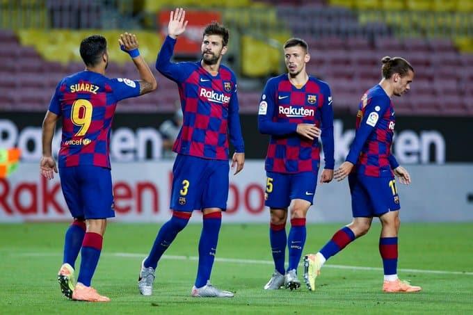البارشا يحسم ديربي برشلونة ضد إسبانيول بهدف يتيم