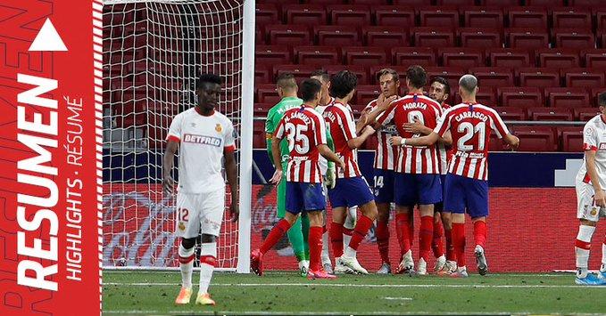 أتلتيكو مدريد يُهدد برشلونة بعد ثلاثيته في ريال مايوركا