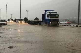 شلل مروري على طريق بحر أبو سكينة بسبب الأمطار - المواطن